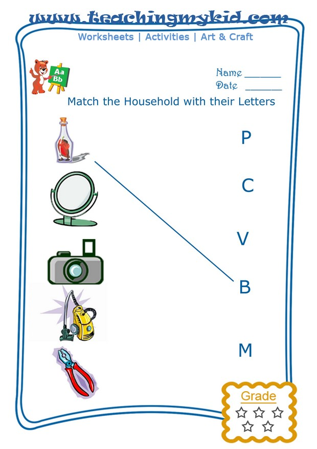 Match The Households With The First Letter Of Their Name Archives ...