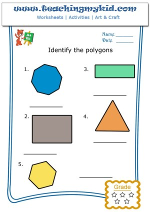 Kids Math Worksheets Identify The Polygons Worksheet 5