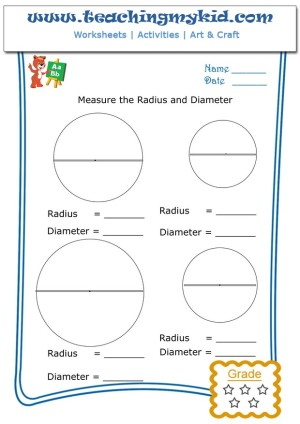 math for kindergarten measure the radius diameter 4. Black Bedroom Furniture Sets. Home Design Ideas
