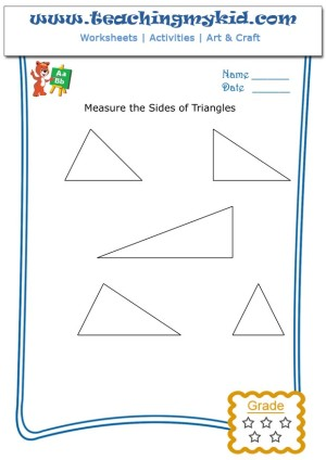 Math Activities For Kindergarten Measure Sides Of Triangles 5