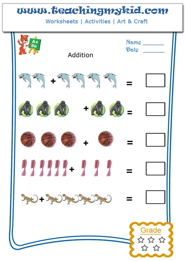 Pictorial Addition Archives Teaching My Kid – Pictorial Addition Worksheets