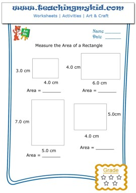 Common Worksheets » Area Worksheets For Kids - Preschool and ...