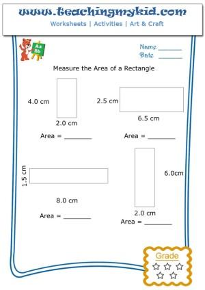math worksheet for kids measure the area of a rectangle 4. Black Bedroom Furniture Sets. Home Design Ideas