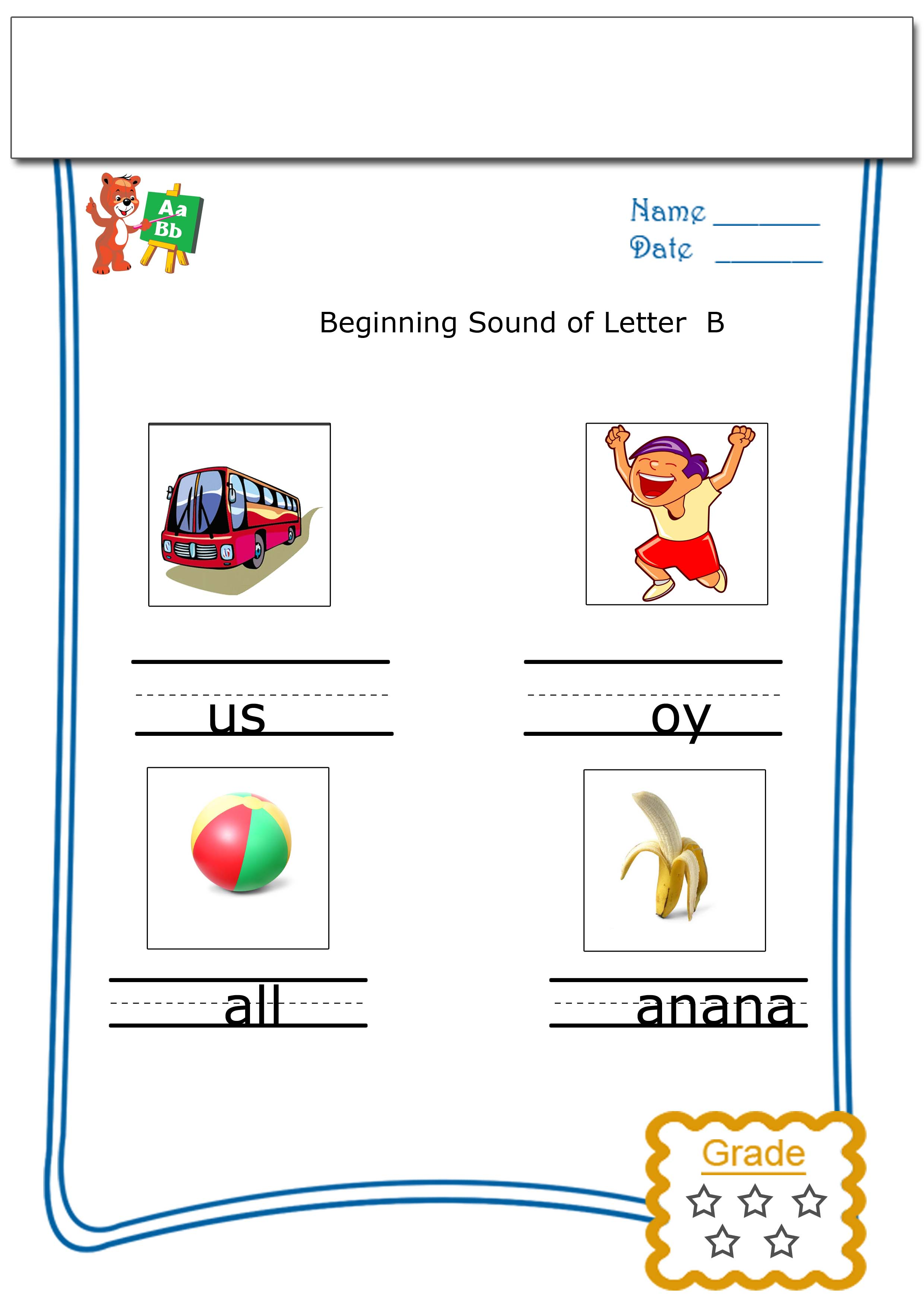 Kinder Garden: Free Printable Preschool Worksheets