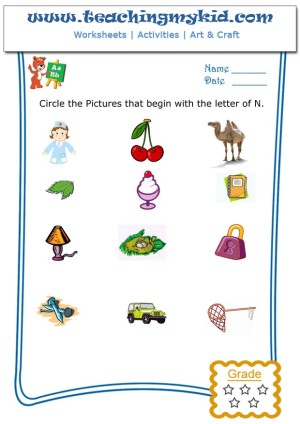 Free Printable Worksheets Circle The Pictures That Begin With The