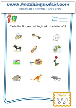 Free Printables For Kids Circle The Pictures That Begin With The