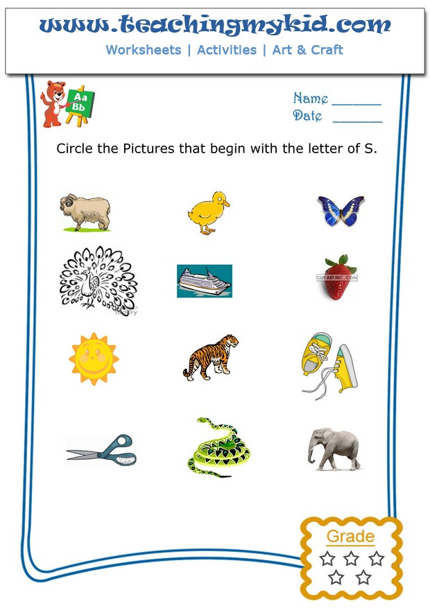 Kindergarten worksheet circle the pictures that begin with the kindergarten worksheet circle the pictures that begin with the letter s altavistaventures Images