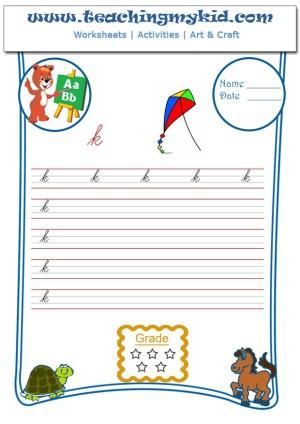 Preschool worksheets