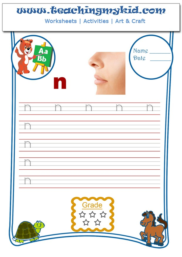 Free preschool worksheets