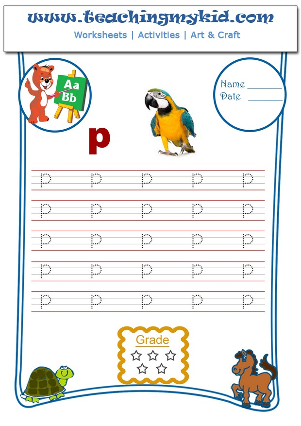 Kindergarten writing worksheets