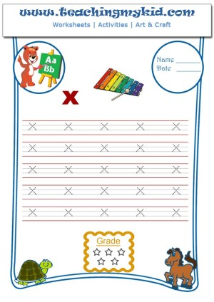 Free Handwriting Worksheets Write Lower Letter X