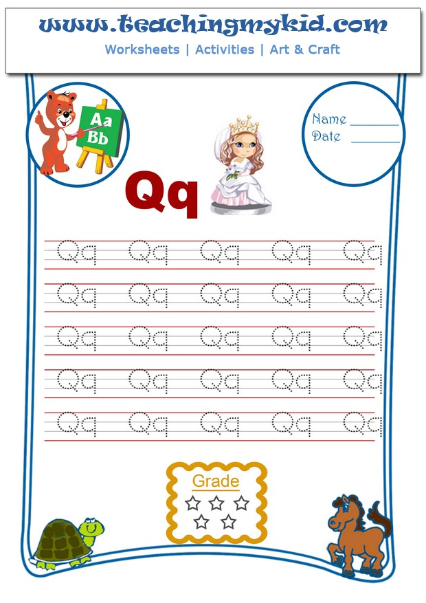 Alphabet tracing worksheets
