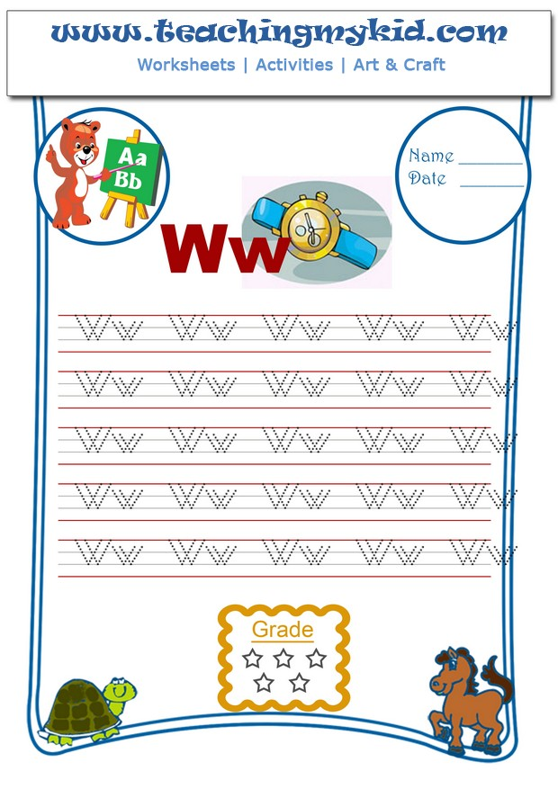 Kindergarten printable worksheets
