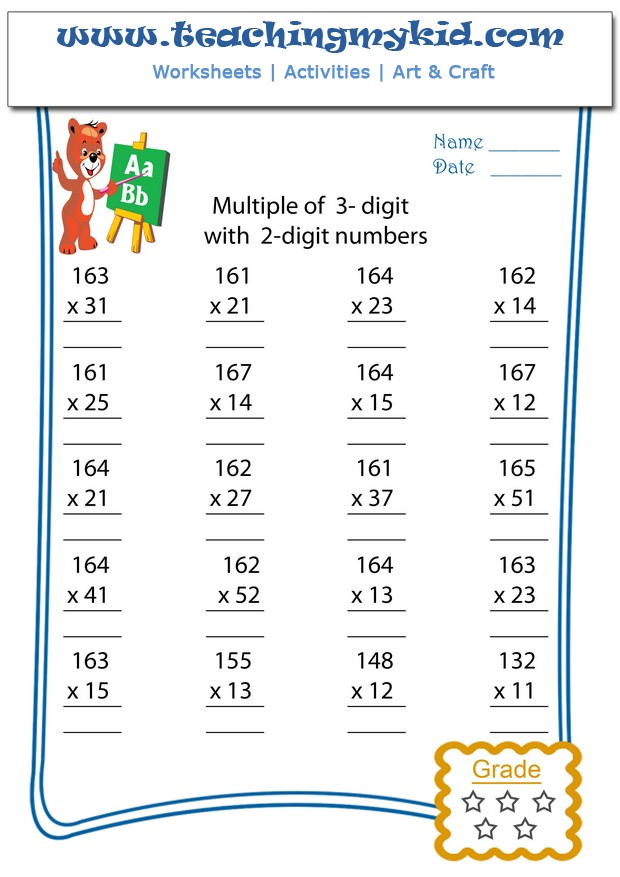 Multiply Multiple Of 3 Digits With 2 Digit Numbers Archives – Multiplication Worksheets 3 Digit by 2 Digit