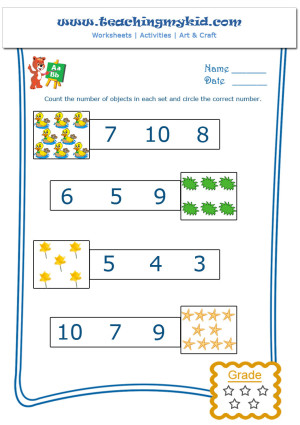 math activities for kindergarten