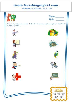 Printable Kindergarten Worksheets Match The Pairs 1
