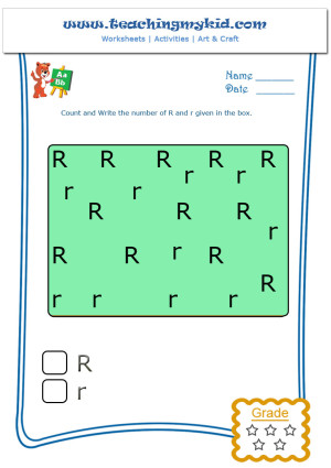 Fun Worksheets For Kids Count And Write R And R Worksheet 18