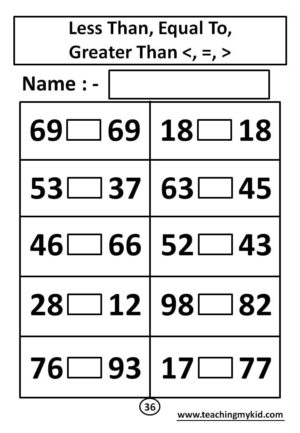 Preschool math worksheets - Understand Place Value