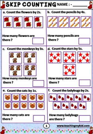 2nd grade worksheets - Skip Counting - Teaching My Kid