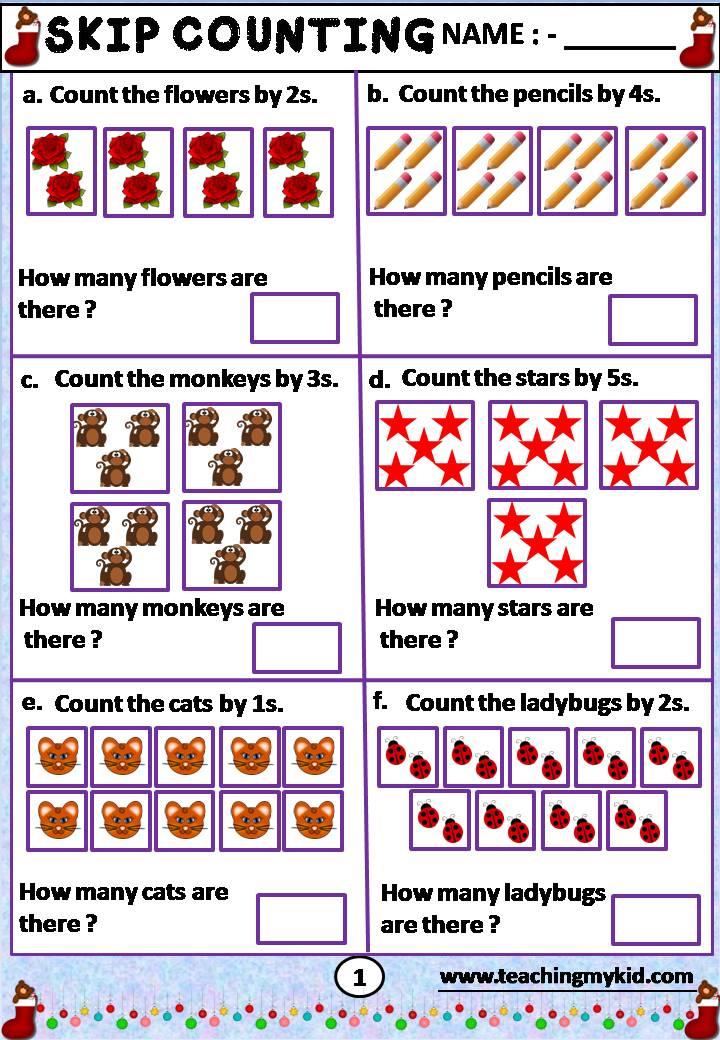 2nd grade worksheets - Skip Counting