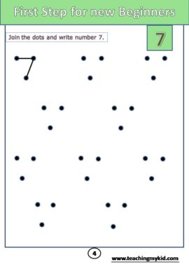 handwriting practice worksheets - Math practice Number 7
