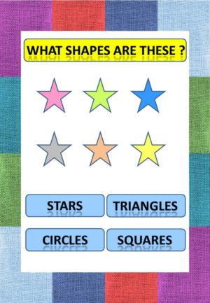free printable math worksheets - What shapes are these ?