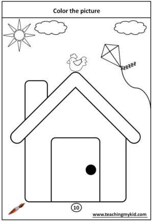 fun worksheet for kids - Color the picture with crayons