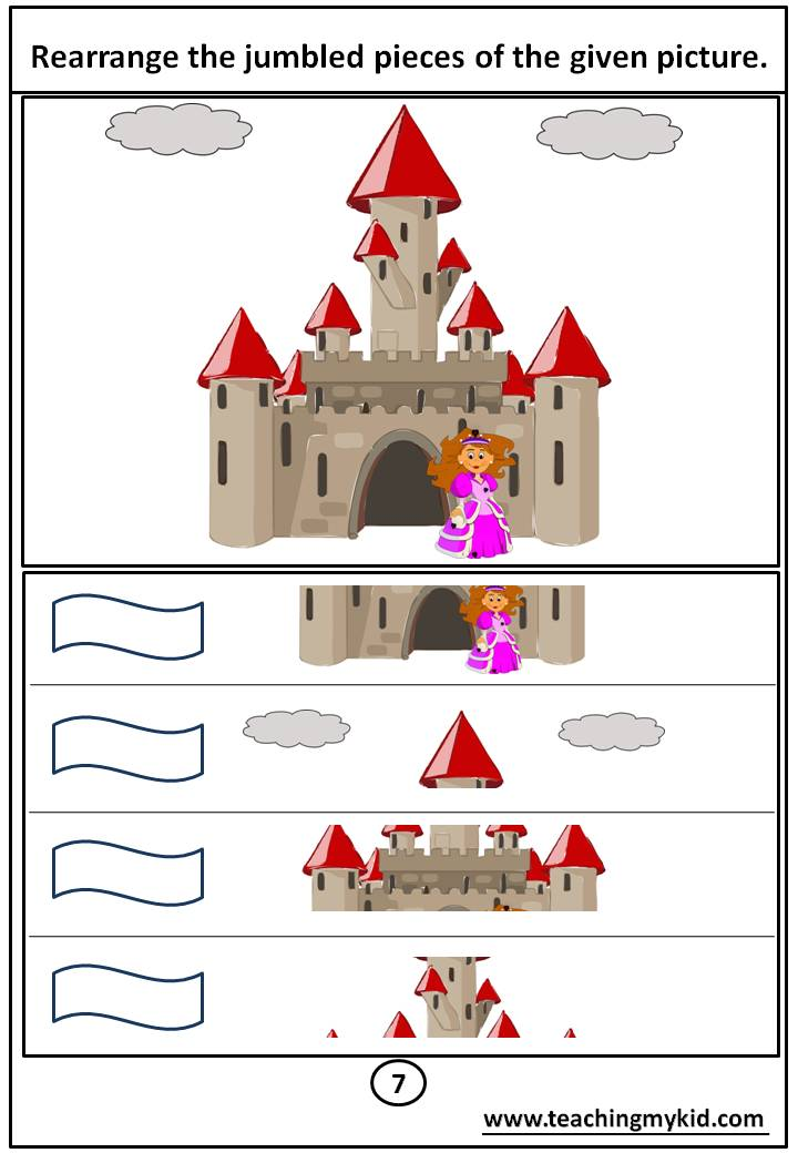 kindergarten activities - Rearrange the jumbled pieces