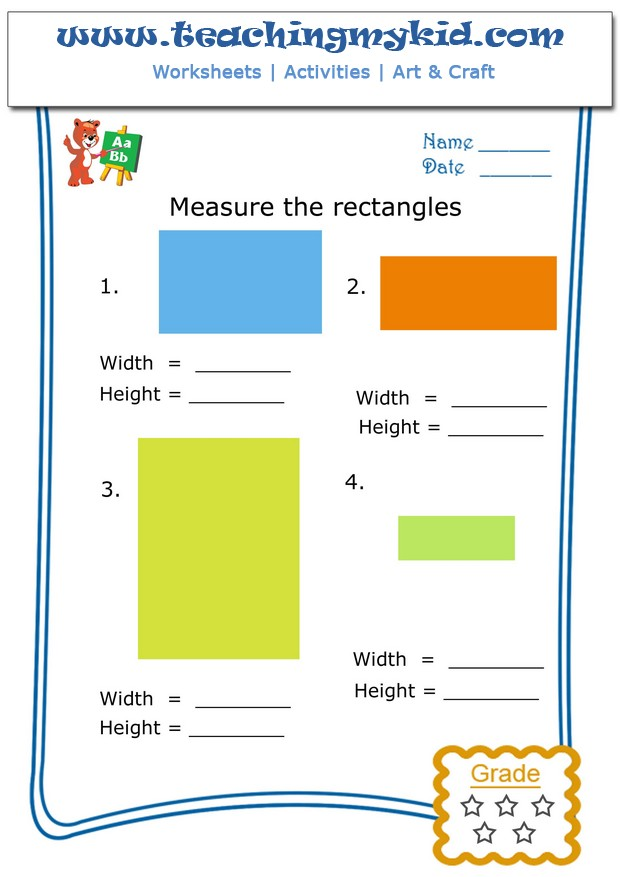 Free Printable Preschool Worksheets Measure The