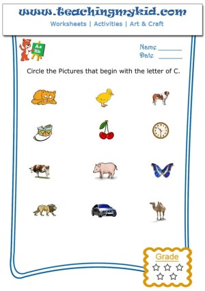 fun worksheets for kids circle the pictures that begin with the letter c. Black Bedroom Furniture Sets. Home Design Ideas