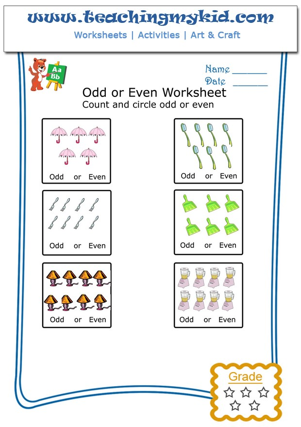 Count & Circle Odd or Even Archives - Teaching My Kid