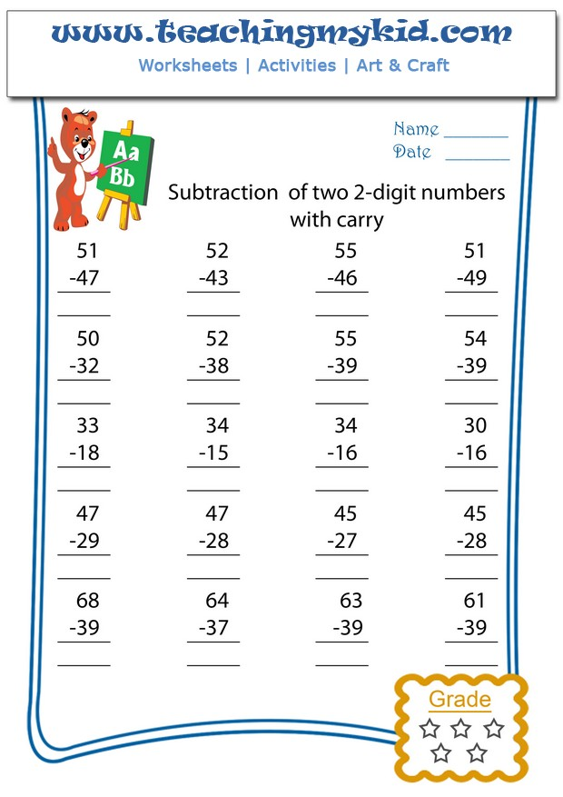 2nd grade math worksheets counting sequence 1-100 numbers