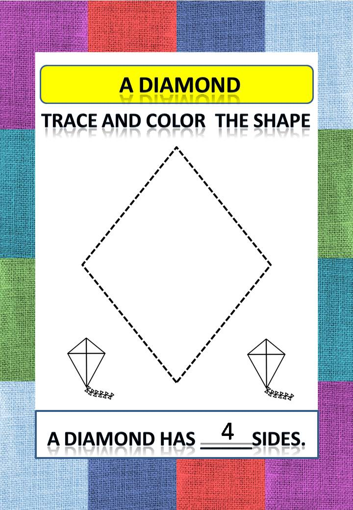 Free Printable Preschool Worksheets - Trace And Color The Shape